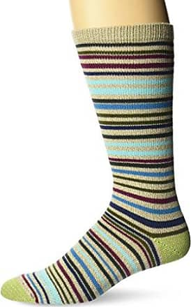 Ozone Mens Scandinavian Stripe Sock, Blue, 10-13