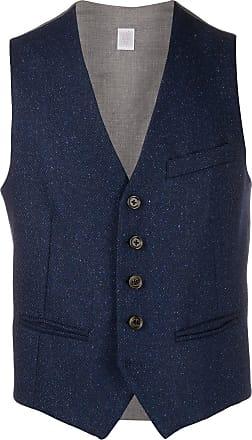 Eleventy fleck knit waistcoat - Blue