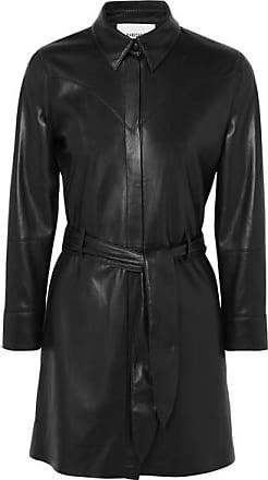 Nanushka Gisele Belted Vegan Leather Mini Dress - Black