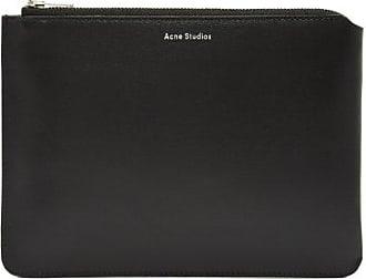 Acne Studios Malachite Small Leather Pouch - Mens - Black