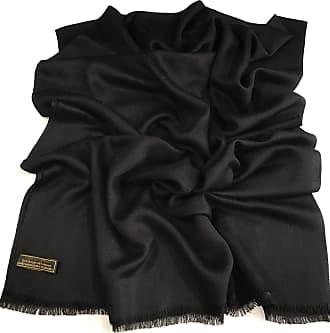 CJ Apparel Black Fringe Solid Colour Design Shawl Scarf Wrap Stole Pashmina CJ Apparel NEW(Size: One Size)