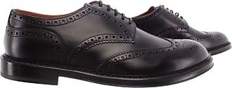 Doucal's Mens Elegant Shoes Horse Nero Leather Black