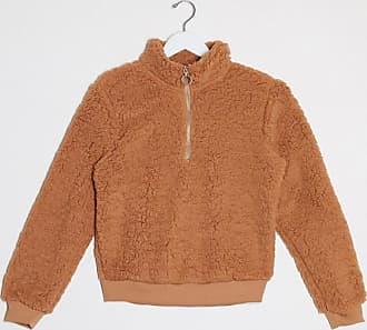 Brave Soul Lina - Sweatshirt aus Teddyfell-Braun