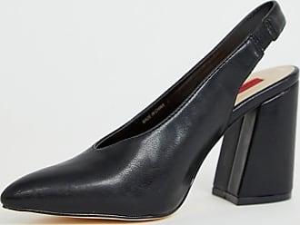 zwarte blokhak schoenen