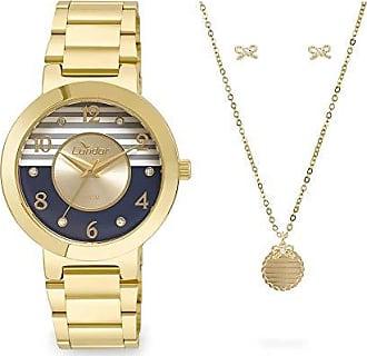 Condor Kit Relógio Condor Feminino bracelete Co2035ktf/k4a - Dourado