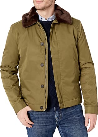 French Connection Mens Bystander Nylon, Military Olive, L
