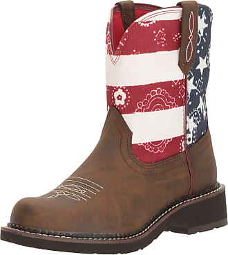 Ariat Womens Fatbaby Heritage Western Boot, Toasted Brown/Old Glory, 5.5 UK