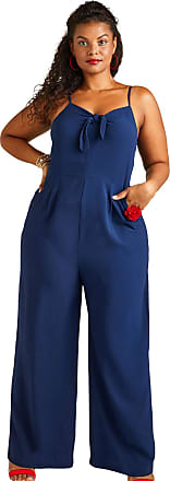 Yumi Navy Yumi Curves Tie Knot Jumpsuit