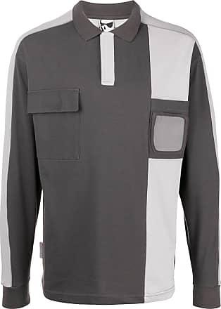 GR10K Camisa polo color block - Cinza