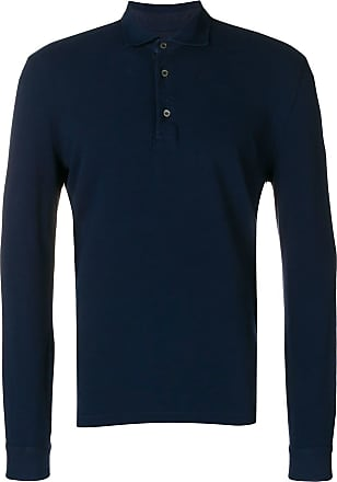 Ballantyne Camisa polo mangas longas - Azul
