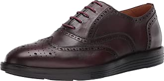 Driver Club USA Mens Leather Made in Brazil EVA Lightweight Oxford Wingtip, Wine Nappa, 7 UK
