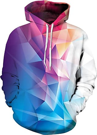 EUDOLAH 3D Prints Pullover Jumpers Breathable Hoodies Patterned Sweatshirts for Mens Size S M L XL 2XL 3XL (2XL/3XL, Colorful Crystal-1)