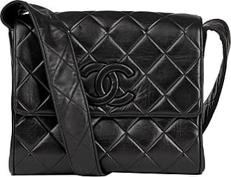 660fda422d87 Chanel 1991 Chanel Black Quilted Lambskin Vintage Leather Logo Shoulder Flap  Bag