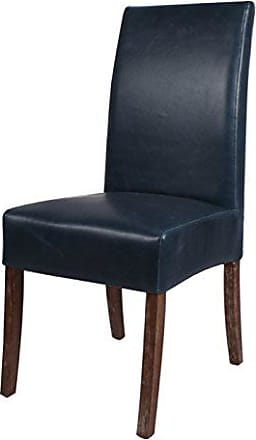New Pacific Direct 108239B-V05 Valencia Bonded Leather Chair,Set of 2 Furniture, Vintage Blue