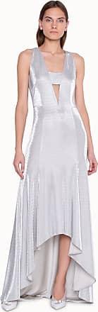 Akris Langes elegantes Abendkleid in Lurex