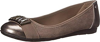 Anne Klein Sport Womens Adelise Fabric Ballet Flat, Pewter, 5 M US