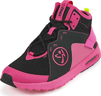 Zumba Air Classic Remix High Top Fitness Workout Dance Shoes for Women, Black/Pink, 8.5 UK