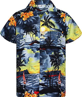 V.H.O. Funky Hawaiian Shirt, New Surf, Grey, 3XL