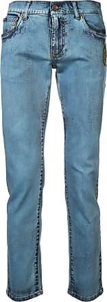 Dolce & Gabbana Calça jeans slim estampada - Azul