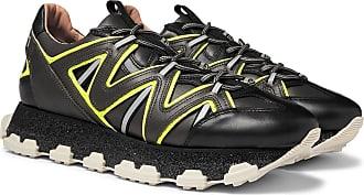 Lanvin Lightning Leather Sneakers - Black
