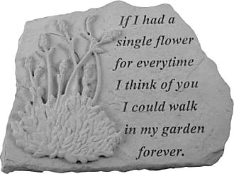 Kay Berry If I Had A Single Flower Memorial Stone - Lavender Design - 07026