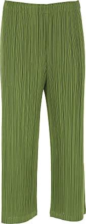 Issey Miyake Pants for Women On Sale, Khaki Green, polyester, 2017, Universal size