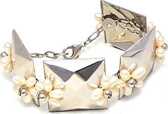 Tinna Jewelry Pulseira Prateada Flor De Pérolas