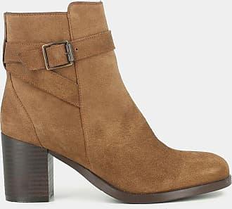 347dd3dfee7d Jonak Boots cuir à talon Takil - JONAK - Camel