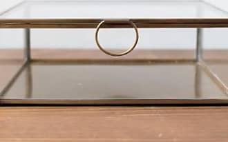 Broste Quadratische Box aus Glas und Messing - square | glass/brass