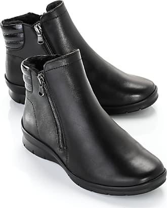 Semler Damen Luftpolster-Kuschel-Stiefelette Schwarz einfarbig Gr. 3,5, 4, 4,5, 5, 5,5, 6, 6,5, 7, 7,5, 8