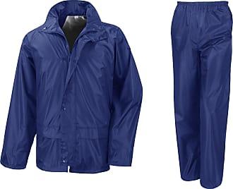 Result Mens Core Rain Suit (Trousers and Jacket Set) (2XL) (Royal)