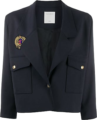 Sandro cropped blazer jacket - Blue