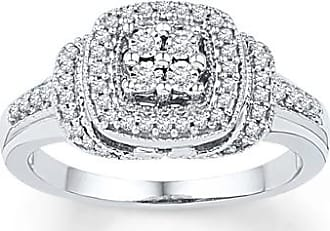 Kay Jewelers Diamond Ring 1/4 ct tw Round-cut Sterling Silver