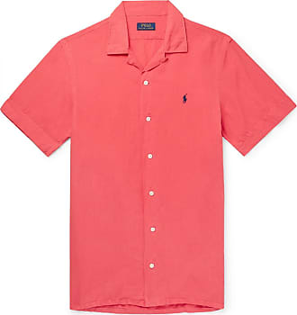 Polo Ralph Lauren Camp-collar Linen, Tencel And Cotton-blend Shirt - Red
