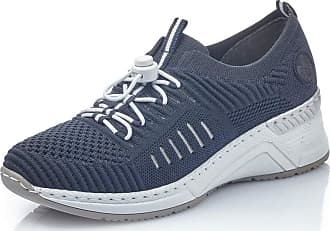 Rieker Women Trainers N4360, Ladies Slip-on,Sports Shoes,Low Shoes,Slippers,Elastic,Breathable,Navy,41 EU / 7,5 UK