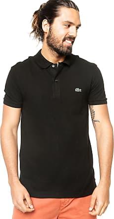 712d2d83f90 Lacoste Camisa Polo Lacoste Slim Logo Preta