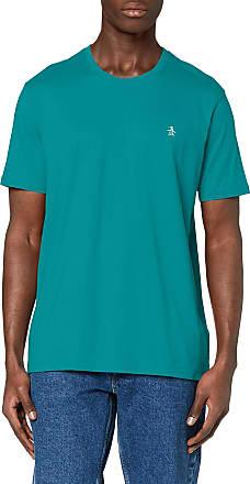 Original Penguin Mens Pinpoint T-Shirt, Blue (Deep Lake 471), Medium (Size:Medium)
