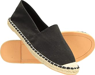 Mountain Warehouse St. Ives Womens Espadrilles - Lightweight Ladies Loafers, EVA Footbed Sneakers, Canvas Fabric Shoes, Easy Slip On/Off - Best for Summer, Holidays Blac