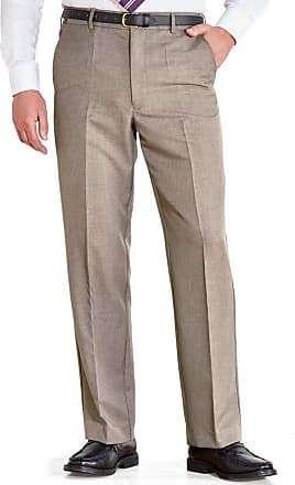 Farah Mens Flex Trouser Pants with Self-Adjusting Waistband Biscuit 46W x 33L