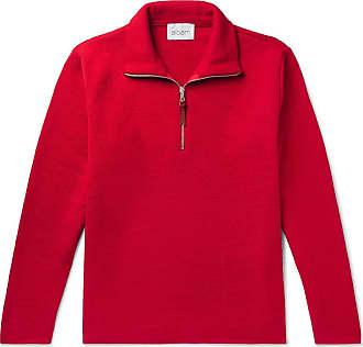 Albam Wool Half-zip Sweater - Red