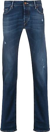 Hand Picked Calça jeans slim com detalhe puído - Azul