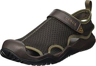 e0725458a973 Crocs Mens Swiftwater Mesh Deck Sandal Sport Espresso 13 M US