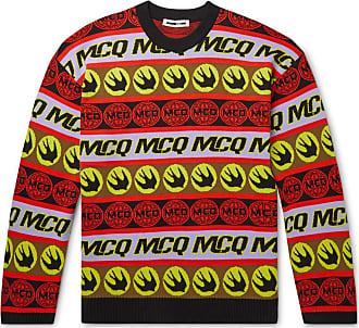 McQ by Alexander McQueen Logo-jacquard Cotton Sweater - Multi