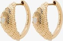 Yvonne Léon Womens 18k Yellow Gold Sea Urchin Diamond Hoop Earrings