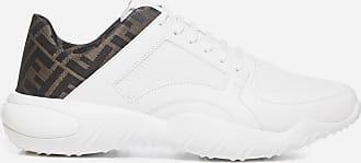 Fendi FF logo fabric low top leather sneakers - FENDI - man