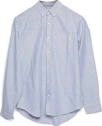GAP Camisa GAP Reta Listrada Azul/Branca