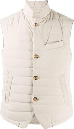 Eleventy quilted gilet jacket - NEUTRALS