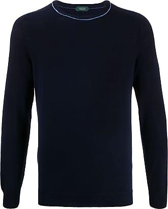 Zanone Suéter decote careca com mangas longas - Azul