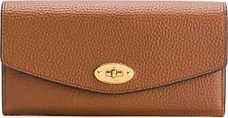 Mulberry pebbled twist-lock purse - Marrom