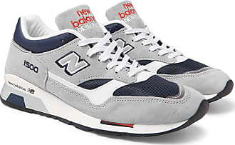 New Balance M1500 Suede, Leather And Mesh Sneakers - Gray